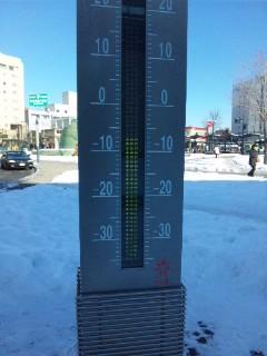 マイナス8℃…