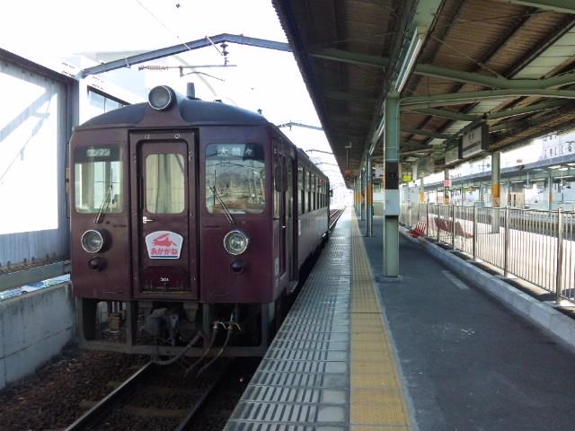 桐生駅にて…