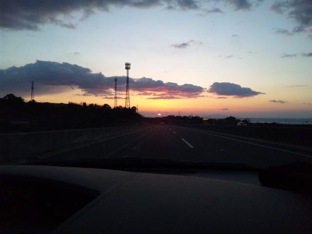 昨日の夕日…