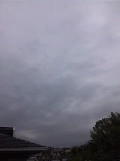 今日は曇り…