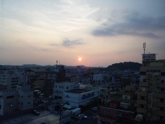 群馬の夕日…