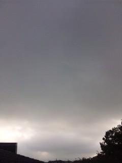 どんより曇り空…
