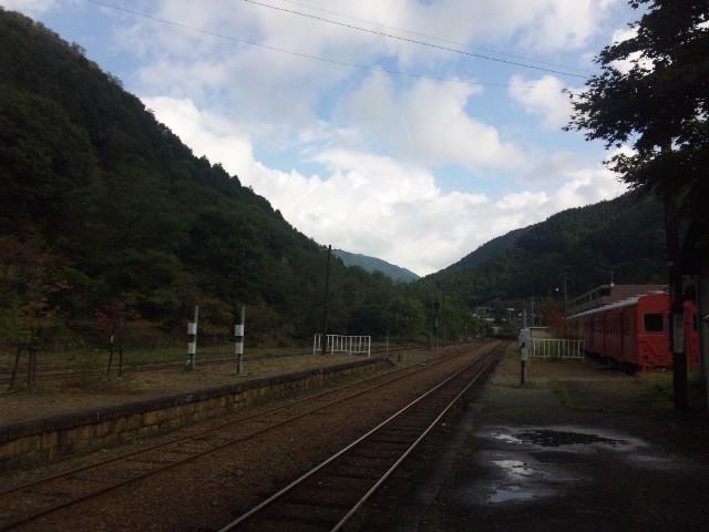 足尾駅にて…