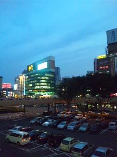 仙台の夕暮れ…