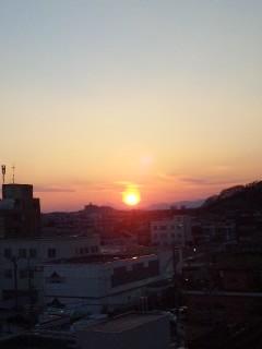 群馬から見た夕陽…