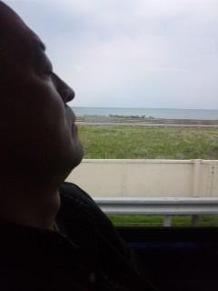 小松空港から金沢へ…