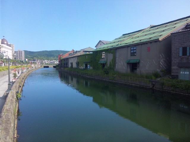 小樽運河にて…