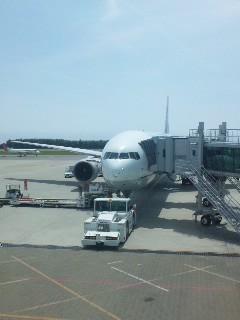 函館空港にて…