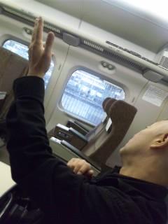 新幹線車内にて…