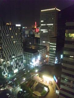 街の灯り…