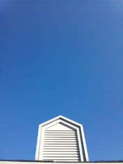 雲がない…