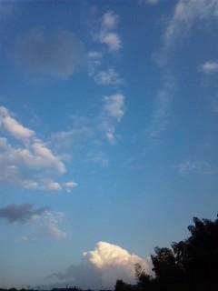 東の空と西の空…