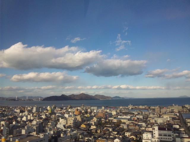 ホテルより大島の眺め…