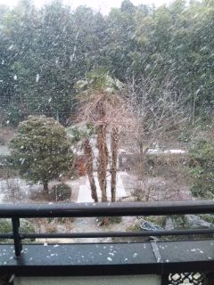 雪が降る…