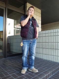 喫煙所にて…