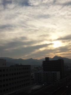 桐生の朝…
