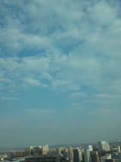 帯広の朝…