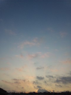 5時半の空…