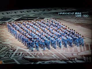 ソチオリンピック開会式…