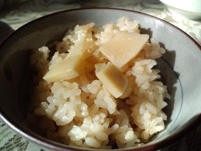 タケノコご飯…